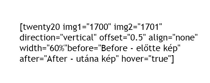 végleges beillesztett kód a bővítményhez - final code to the plugin